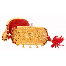 Traditional Gold Plated Rajputi Bajuband studded with premium stones