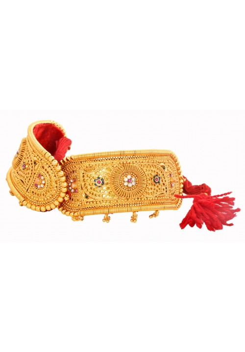 Traditional Rajputi Gold Plated Bajuband For Woman