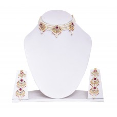 Rajputi  Chick Set Multi Pearl Strand Collar Necklace