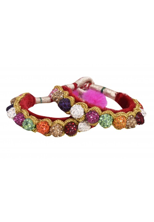 Rajputi Multi coloured Single Line Ponchi Bracelet