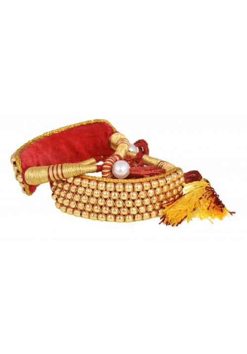 Rajputi Traditional Golden Ponchi Bracelet